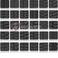 rubber track tread patterns
