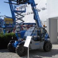 Telehandler flat proof tires on a Genie GTH5519 compact telehandler at ConExpo in Las Vegas